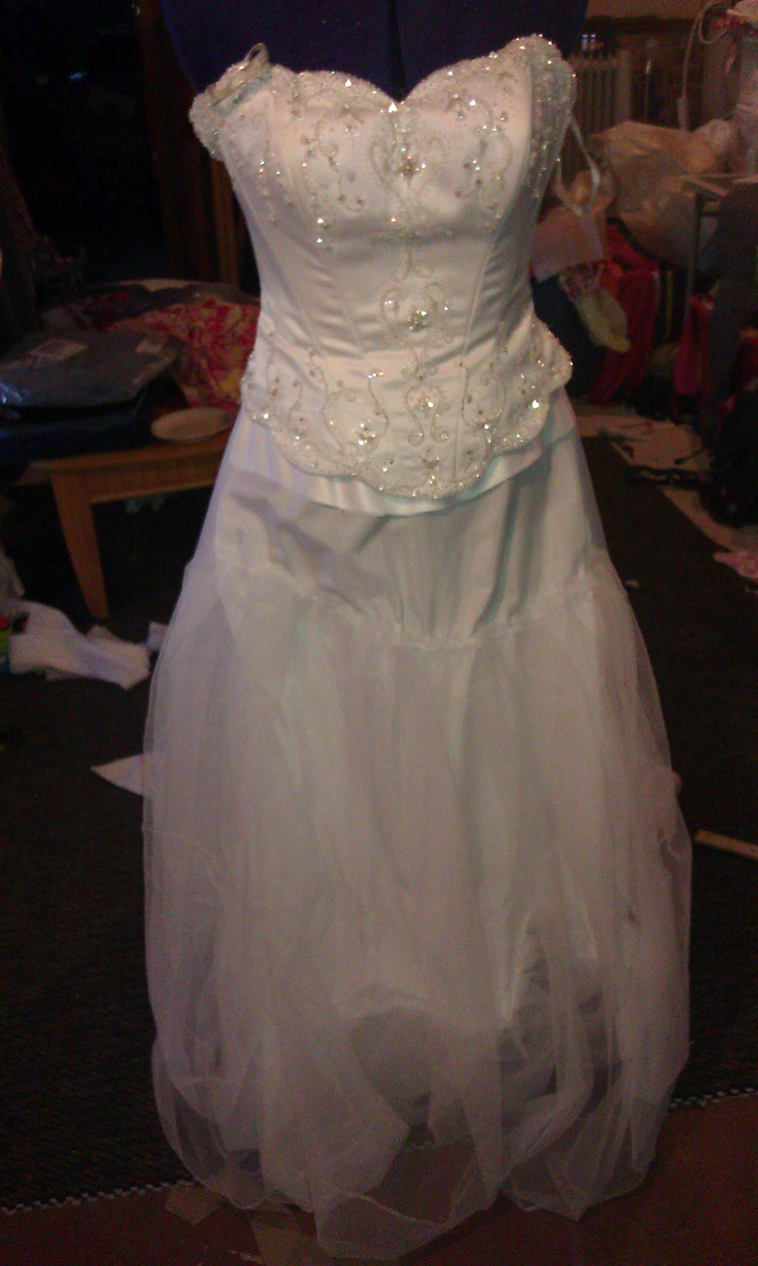 Mom wedding dress.