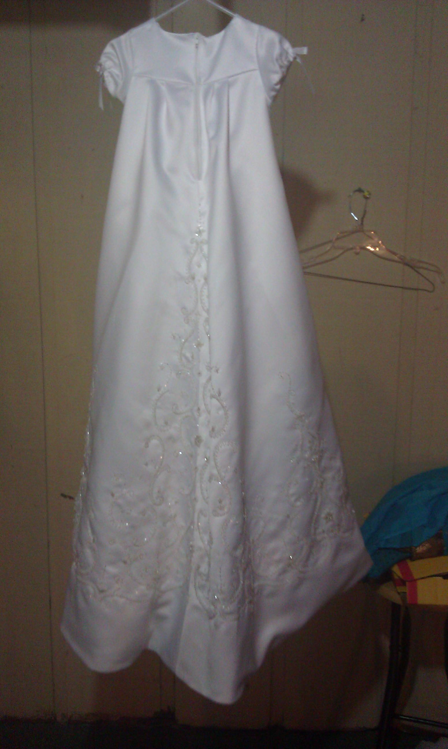 Christening dress back.